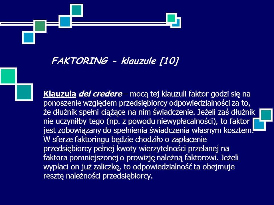 FAKTORING - klauzule [10]